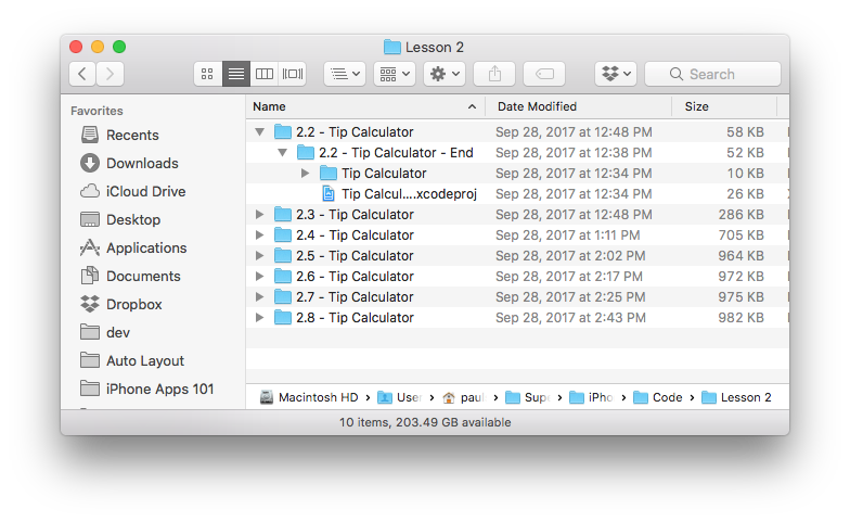 Easy Xcode Project Backup with Finder
