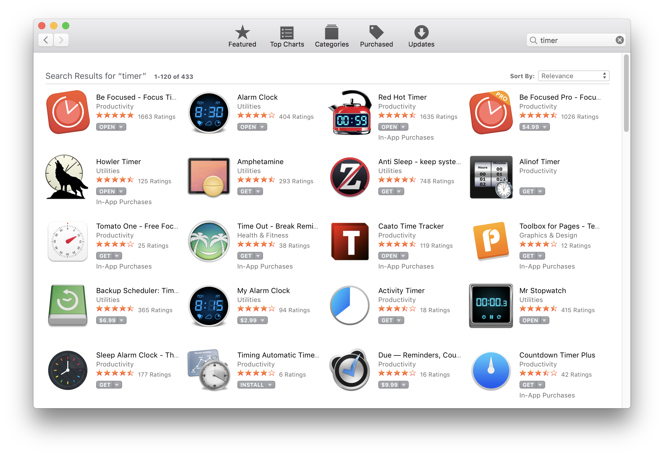 433 timer apps on the Mac App Store