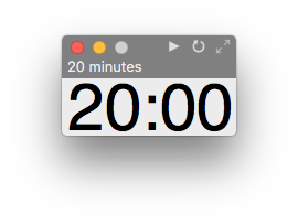 Super Easy Timer 20 minutes with natural language